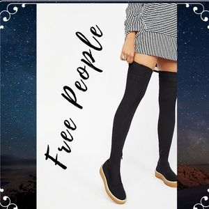 FREE PEOPLE Outer Limits Stretch Boot Black  NIB